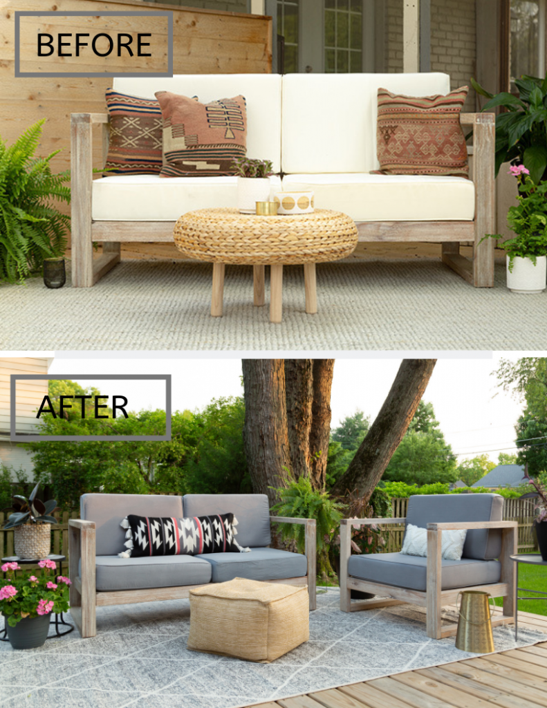 deck decorating with updated cushions