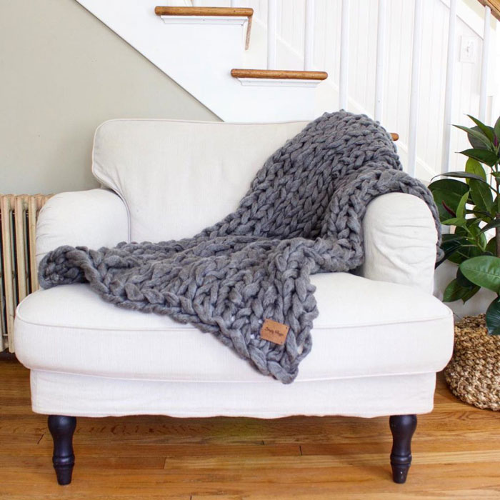 diy arm knit throw