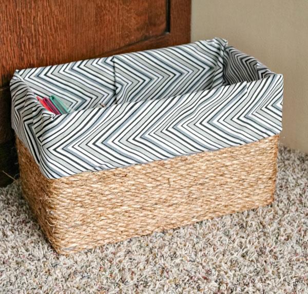 diy basket from a cardboard box
