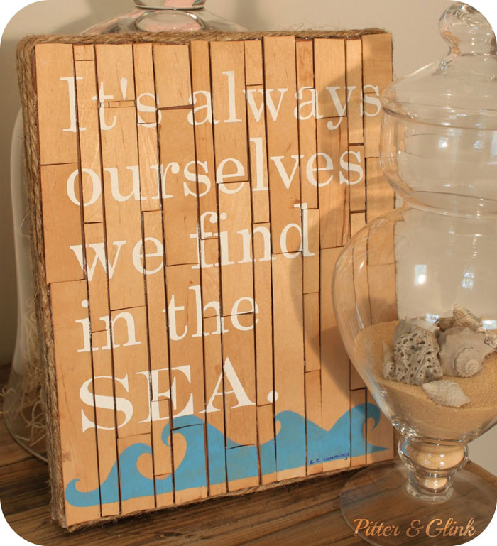diy coastal popsicle stick sign