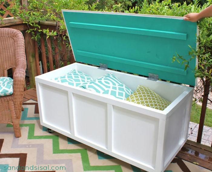 diy deck storage box