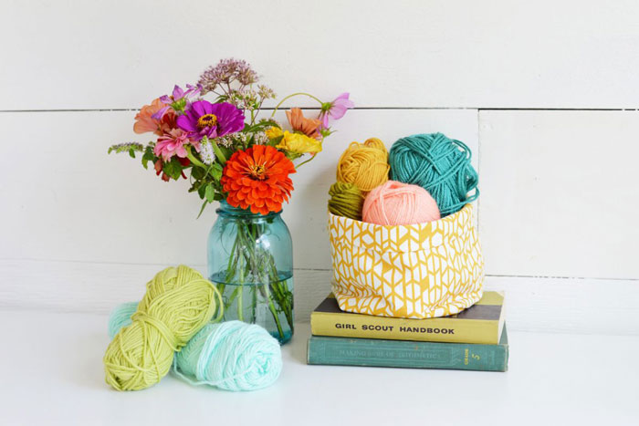 diy fabric basket craft
