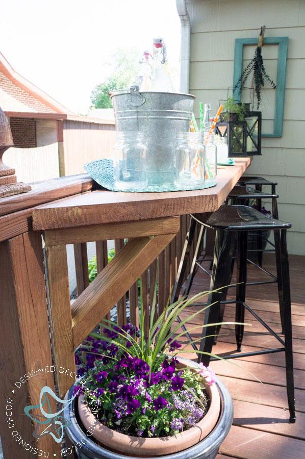 diy flip up deck bar