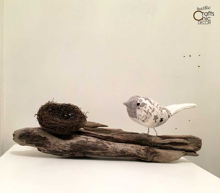 driftwood bird and nest