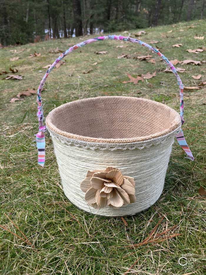 rustic easter basket craft