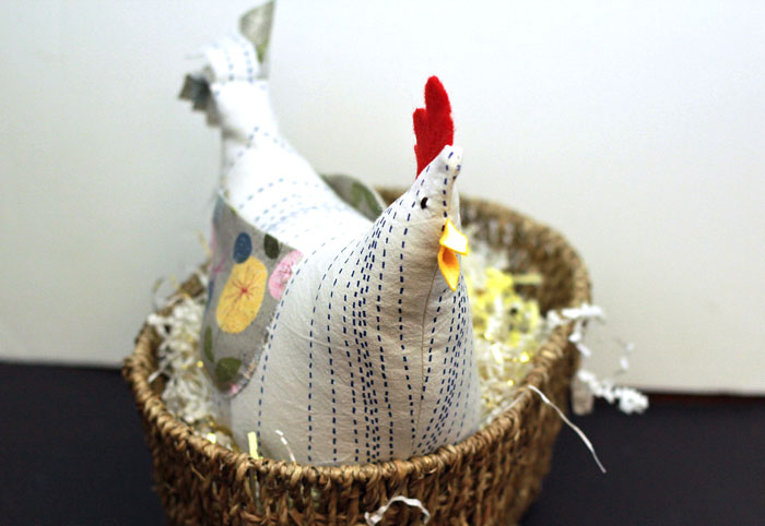 fabric chicken