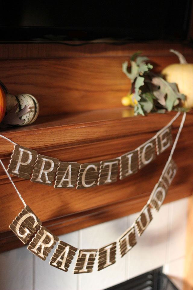 gilded popsicle stick garland