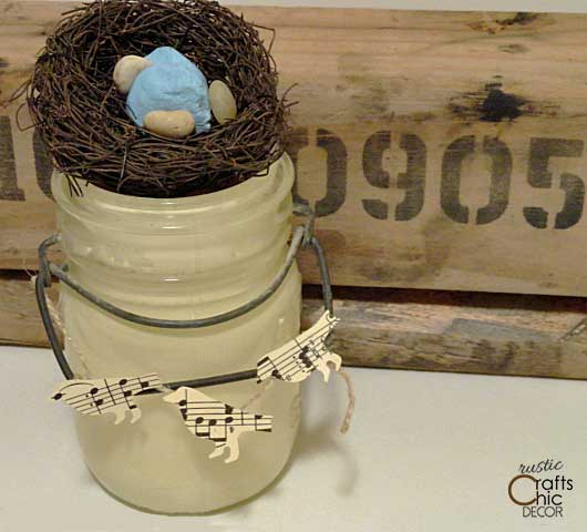 mason jar easter craft