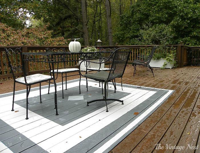 painted deck rug