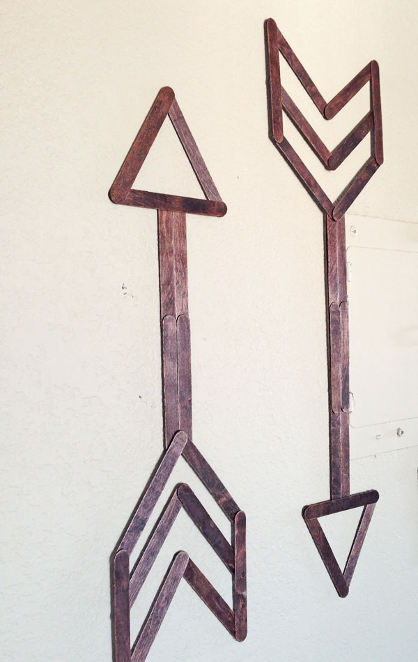 popsicle stick arrows