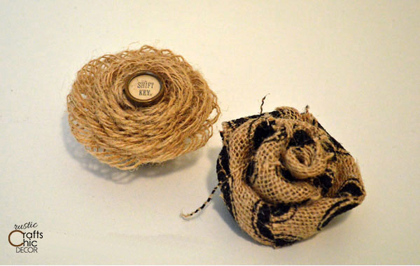 rustic burlap flower craft