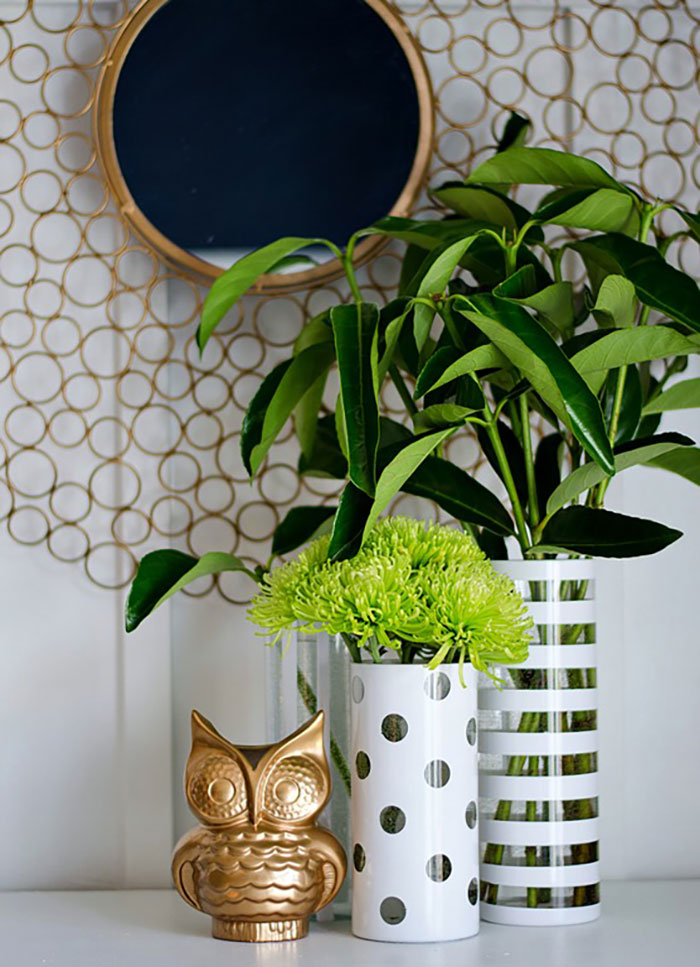 stripes and dots vases