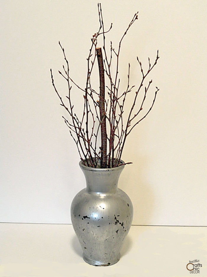 updated old glass vase