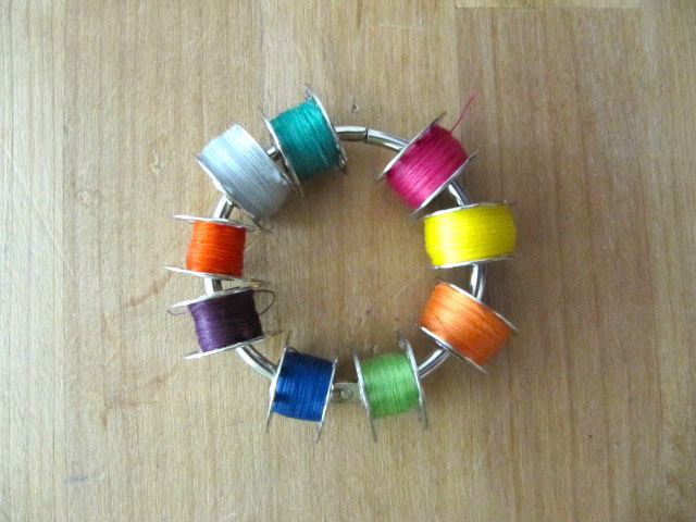 key ring bobbin holder