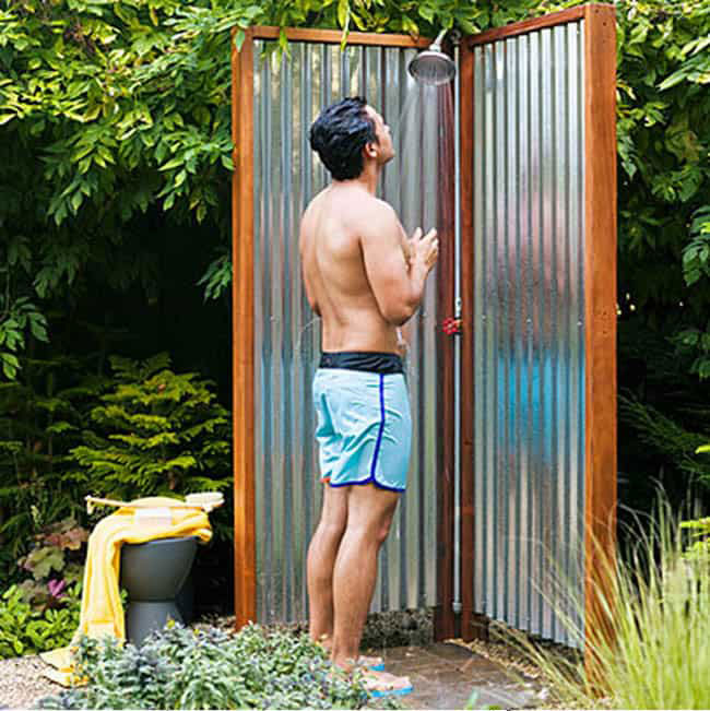poolside shower plan