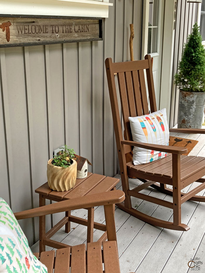 rustic porch decor