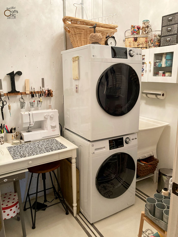 laundry craft room