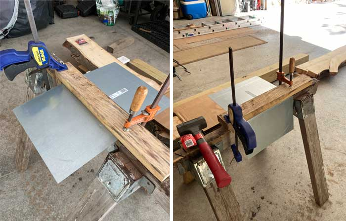 bending steel for birdhouse roof