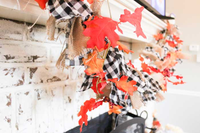 diy buffalo plaid fall garland
