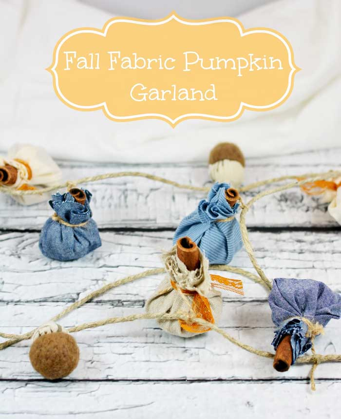 cinnamon stick fabric pumpkin strand