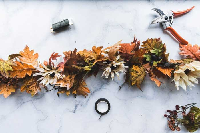 diy fall garlands