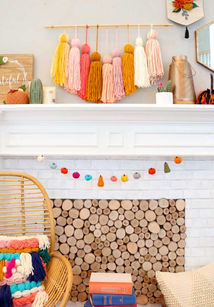 diy felted pumpkin garland