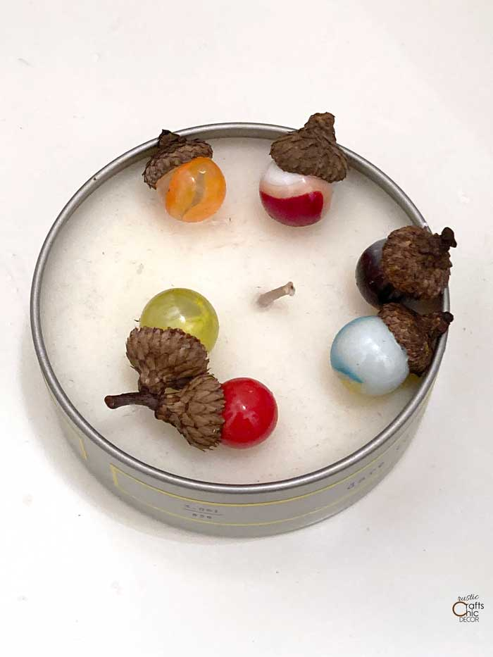 diy marble acorns