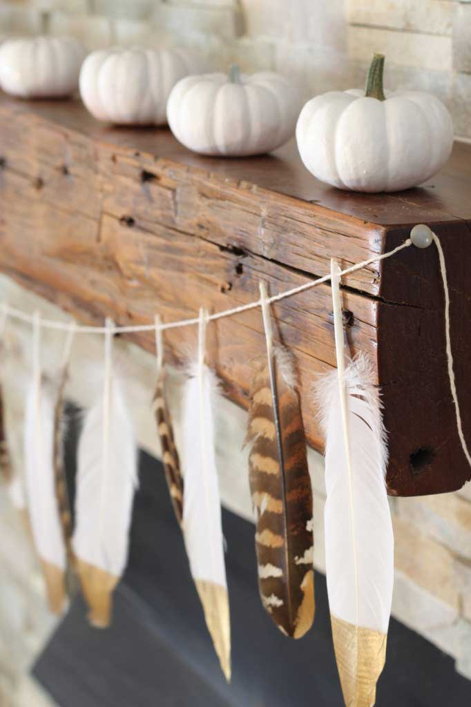 fall feather garland