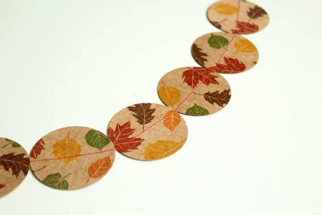 fall paper garland