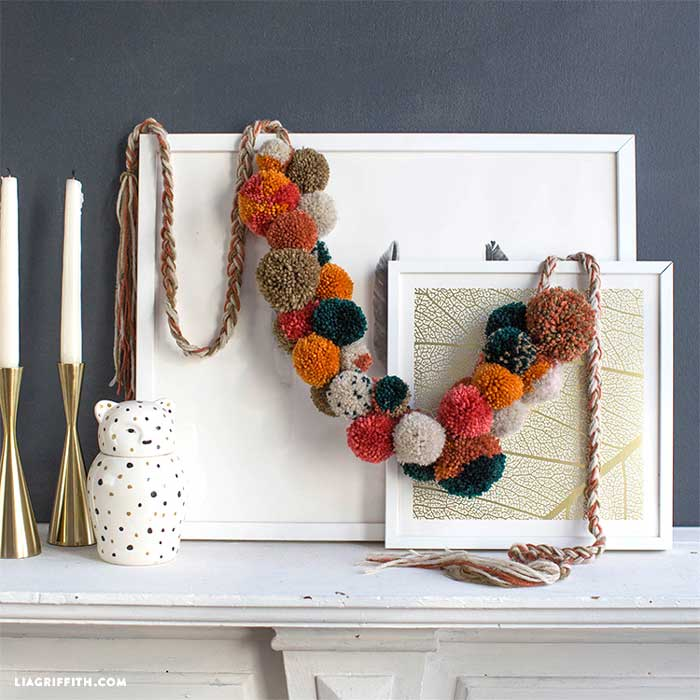 diy fall pom pom garland