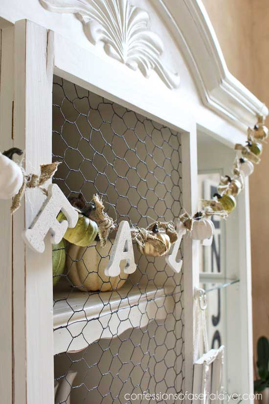 fall pumpkin garland