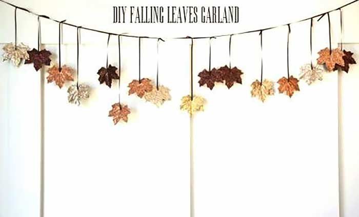 fallen leaves garland