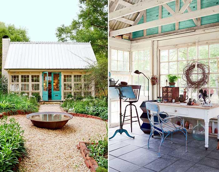 farmhouse chic art studio