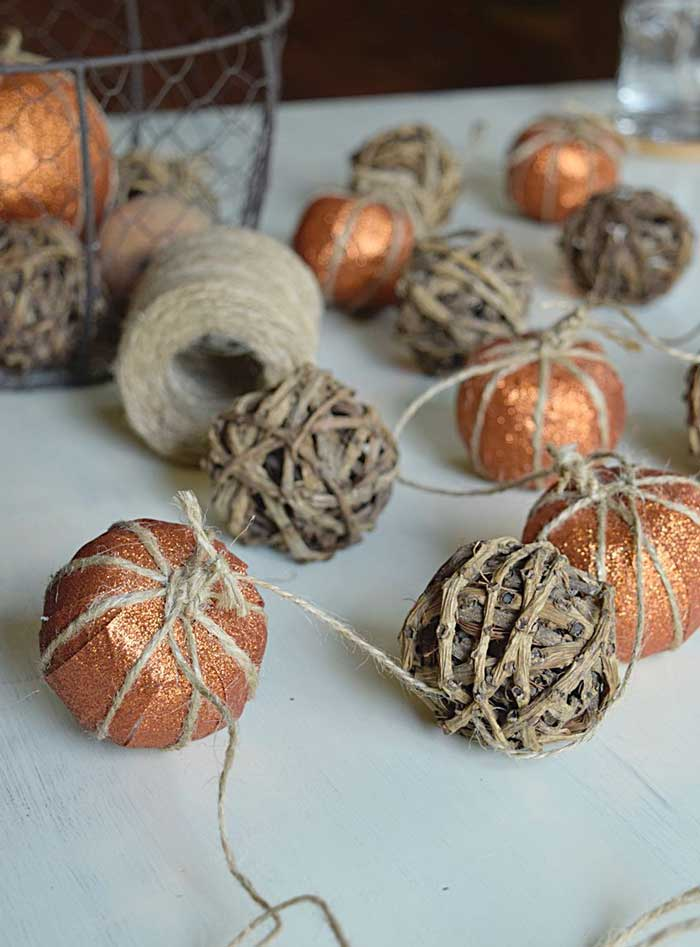 faux pumpkin garland