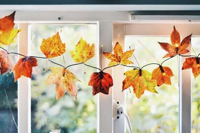 lighted fall leaf garland