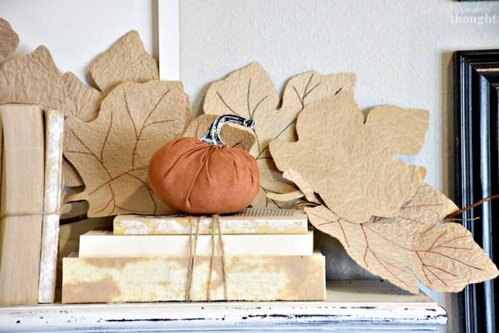 diy paper lunch bag fall garland