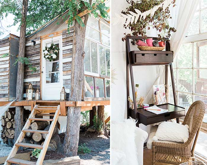 she shed treehouse for crafting