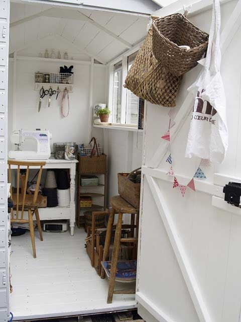 shed interior makeover