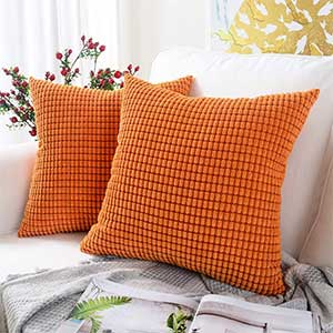 spicy orange throw pillows
