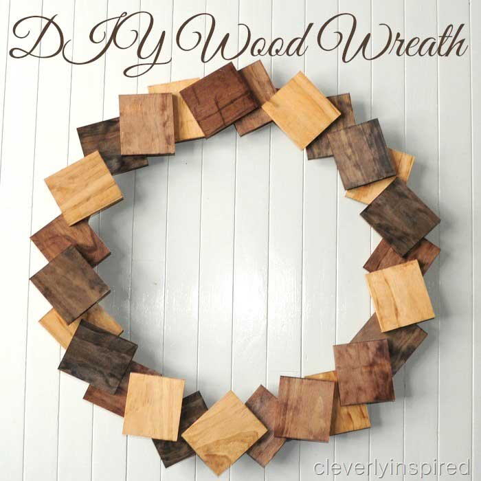 diy wood squares wreath