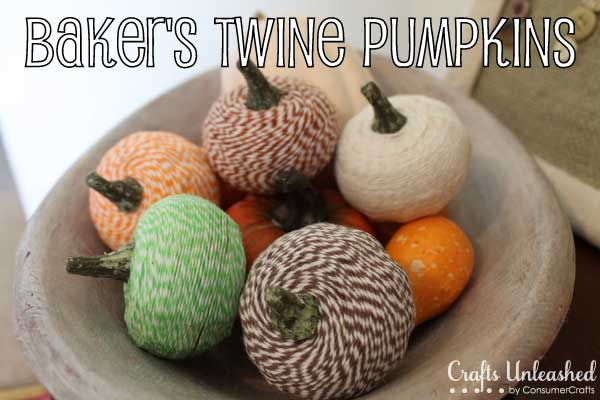 diy bakers twine pumpkins