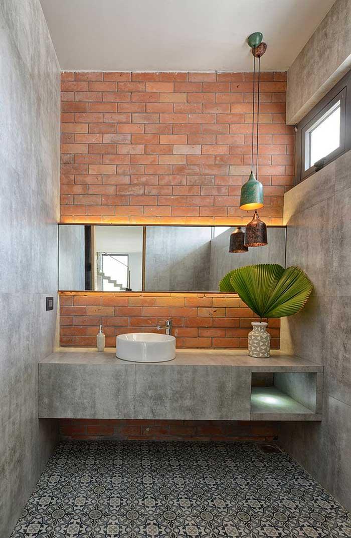 concrete bathroom walls