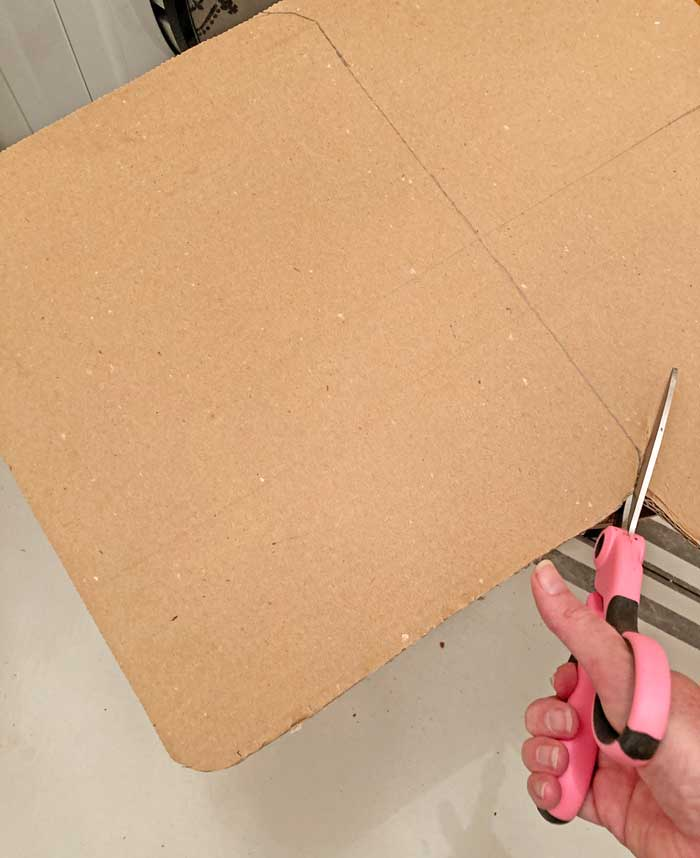 cut out cardboard for clipboard