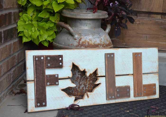 diy rustic wood fall sign