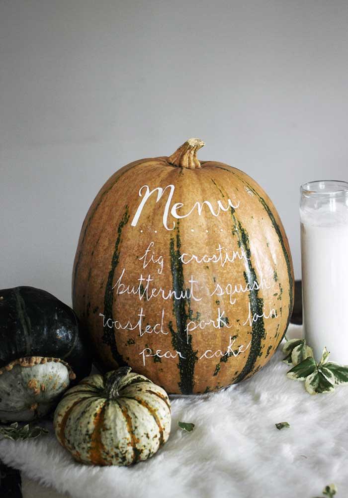 diy menu pumpkin