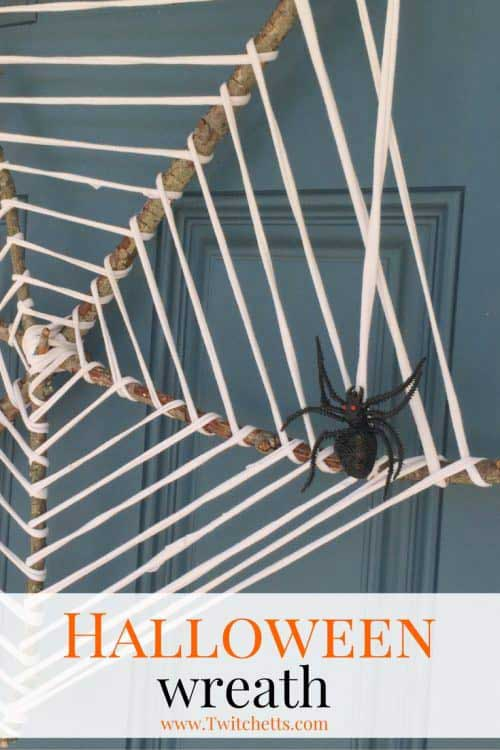 easy diy spider web wreath
