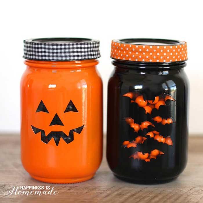 halloween treat mason jars