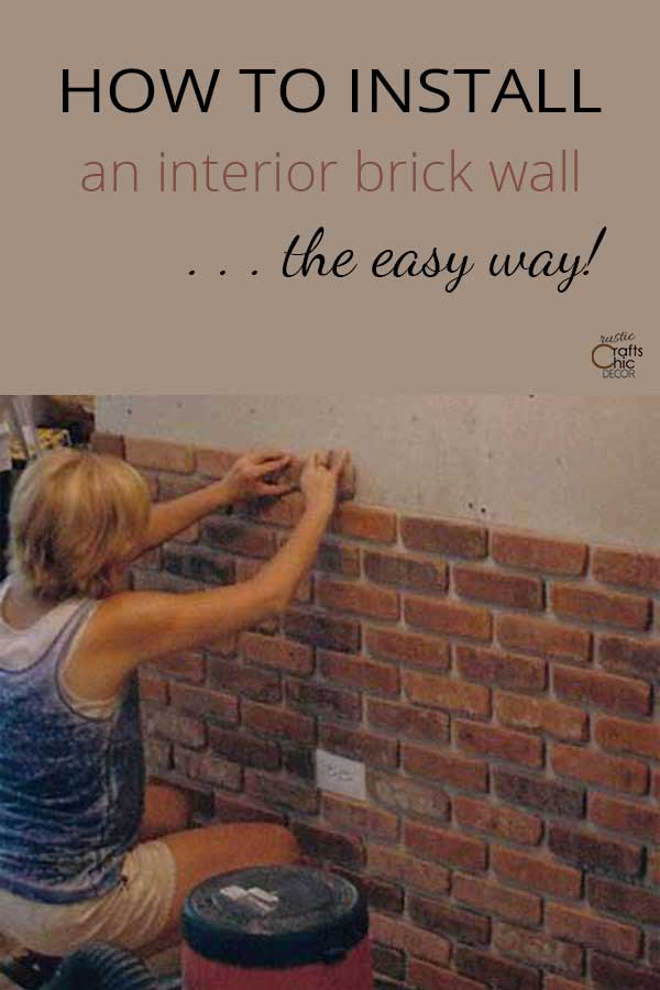 diy faux brick wall
