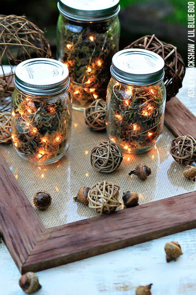 pinecone rustic lanterns