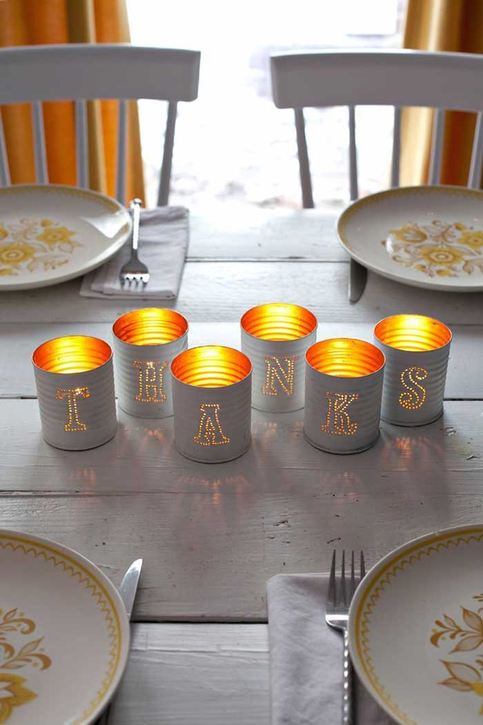 recycled can candle holders